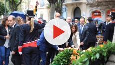 Diada: El himno de España suena a todo volumen mientras Torra hace la ofrenda a Casanova