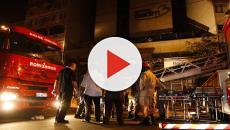 Bombeiros fazem varredura depois de incêndio em hospital