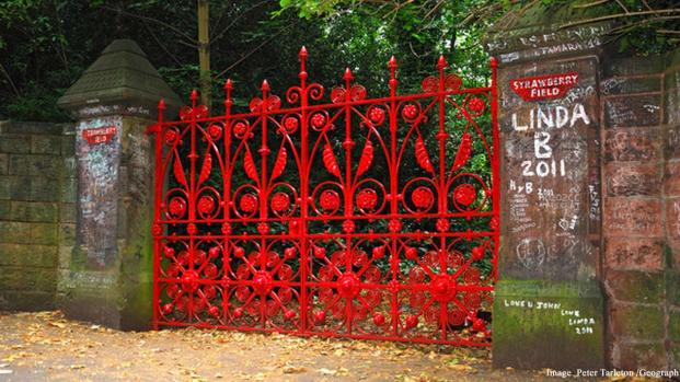 Strawberry Field in Liverpool dedicated to the memory of John Lennon
