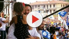 Pontida, fa discutere la bambina presentata da Salvini in braccio