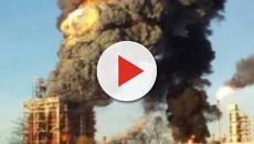 Pavia, forte boato a Sannazzaro de' Burgondi: esplode raffineria Eni