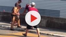 Torcedor do Athletico perde a mão após explosão de sinalizador
