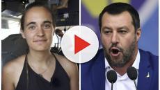 Piazzapulita, Carola Rackete decide di non rispondere alle domande su Matteo Salvini
