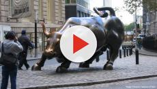 Wall Street: Passerby vandalises the Charging Bull statue
