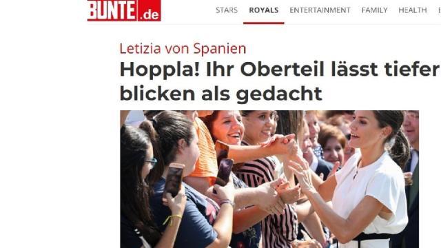 La prensa alemana sigue muy pendiente de la reina Letizia: 'Se le vio el sujetador'
