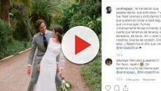 Feliciano López y Sandra Gago comparten en Instagram un pequeño álbum de su boda