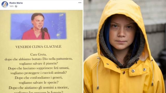 Friday for Future, Radio Maria si scaglia contro Greta Thunberg