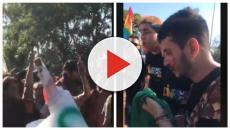 Grupo de manifestantes LGBT en Hernandarias (Paraguay) fueron agredidos