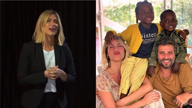 Giovanna Ewbank se emociona ao conceder palestra sobre adoção: 'não, não sou estéril'