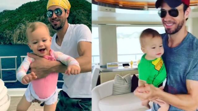 Enrique Iglesias se divierte junto su familia, Nicholas, Lucy y Anna Kournikova