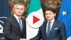 Conte incontra Jens Stoltenberg: 7 mld di euro all'anno in più alla Nato, Fusaro insorge