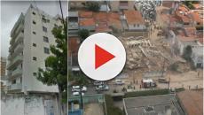 Prédio de sete andares desaba em Fortaleza (CE)