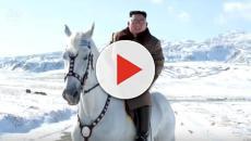 Kim Jong-un climbs Mount Paektu on horseback