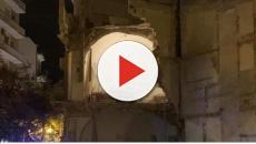 Andria: Crolla l'ala di una palazzina in pieno centro, due feriti