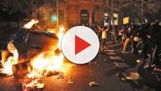 Choques entre ultras e independentistas en la cuarta jornada de disturbios en Barcelona