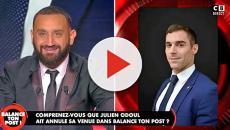 Julien Odoul insulte Cyril Hanouna de pitre, il répond : 'Il parle de qui lui'