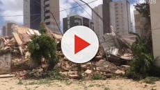 Vídeo mostra exato momento em que prédio desaba em Fortaleza