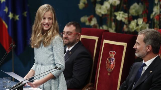 Leonor de Borbón se estrena en la entrega de los Premios Princesa de Asturias