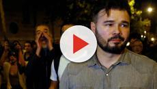 Gabriel Rufián abandona una protesta en Barcelona entre abucheos y gritos de 'butifler'