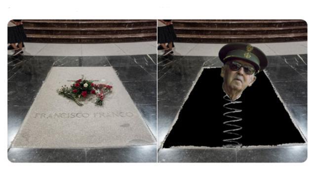 5 memes virales de la exhumación de Francisco Franco