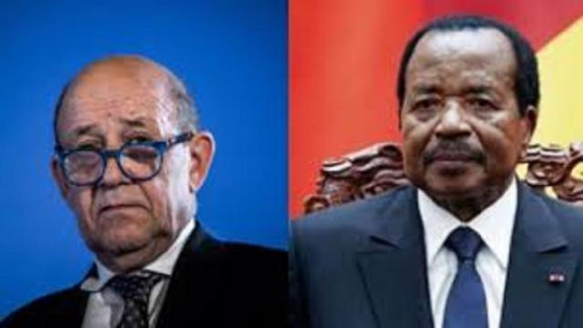 Jean-Yves Le Drian en visite au Cameroun
