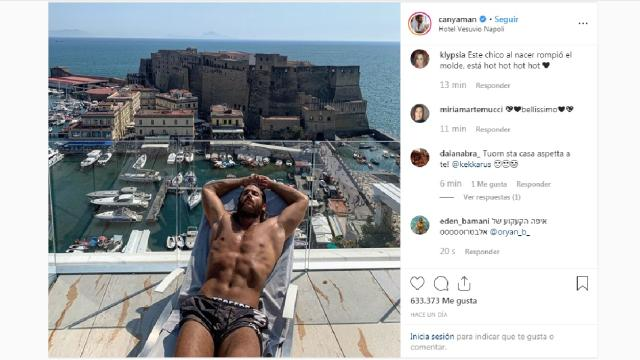 Can Yaman revoluciona Instagram con una foto tomando el sol en Nápoles