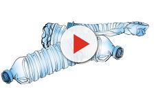 Bottiglie di plastica riutilizzate per riparazione e manutenzione degli aerei