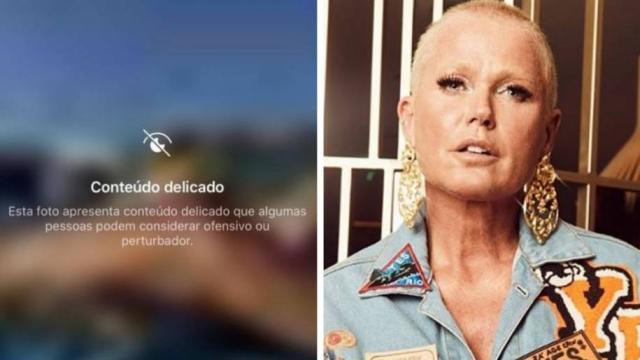 Xuxa posa sem parte de cima do biquíni, e Instagram censura imagem