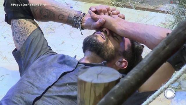 'A Fazenda': após Diego se lesionar durante a roça, público critica prova