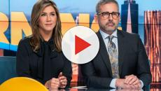 Jennifer Aniston e Steve Carrel em cena de 'The Morning Show' da Apple TV PlusV