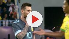 Imagem flagra momento que Messi manda Tite calar a boca