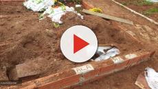 O corpo de uma Mulher foi encontrado fora do túmulo no Rio Grande do Sul