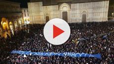 Salvini: in una vignetta di una 'sardina' di Modena raffigurato a testa in giù