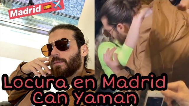 Can Yaman llegó el 24 de noviembre a Madrid por su gira promocional de Mediaset