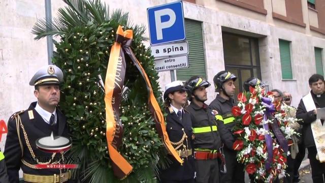 Roma, ieri si sono ricordate le vittime dell'esplosione di una palazzina nel 2001
