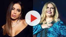 Anitta comemora sucesso de hit junto com Marília Mendonça