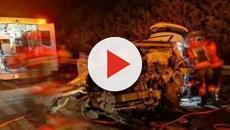 Un kamikaze choca brutalmente contra seis vehículos en Murcia antes de fallecer
