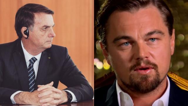 Bolsonaro acusa DiCaprio de dar dinheiro para