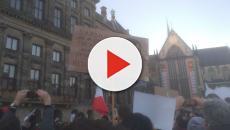Anversa, hanno manifestato circa un migliaio di persone per il movimento delle sardine