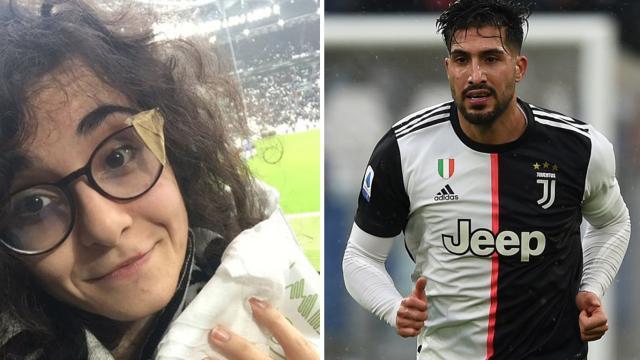 Juve, Emre Can si scusa con la tifosa colpita da una pallonata: