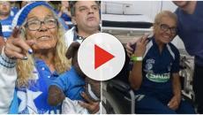 Salomé, torcedora-símbolo do Cruzeiro, é agredida pela torcida do Atlético Mineiro