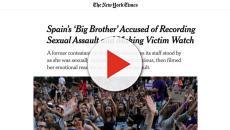 The New York Times lleva a portada la presunta violación a Carlota Prado en GH Revolution