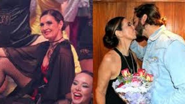 Fátima Bernardes ganha beijos e flores de Túlio Gadelha após sua apresentação de dança