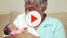 Sidney Magal fica emocionado com chegada da primeira neta