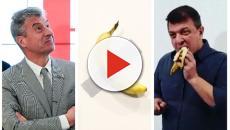Arte: l'artista David Datuna mangia l'opera 'la banana' di Cattelan