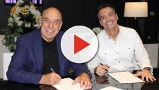 Leo Dias assina contrato com a RedeTV e tem participação em sua primeira reunião