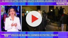 Funerale mamma Al Bano, Barbara D'Urso ferma l'inviata che lo voleva intervistare
