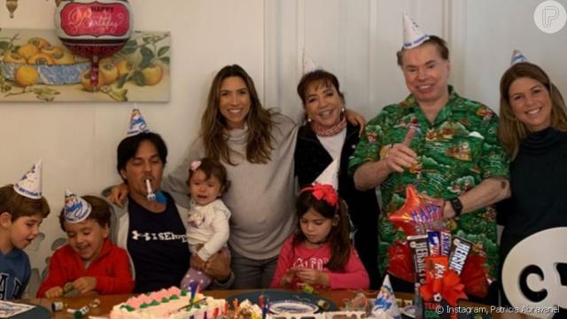 Patrícia Abravanel posta fotos em família para homenagear e dar parabéns a Silvio Santos