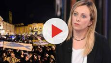 Sardine: commento di Giorgia Meloni ai cori contro di lei, 'Non era la piazza dell'amore'
