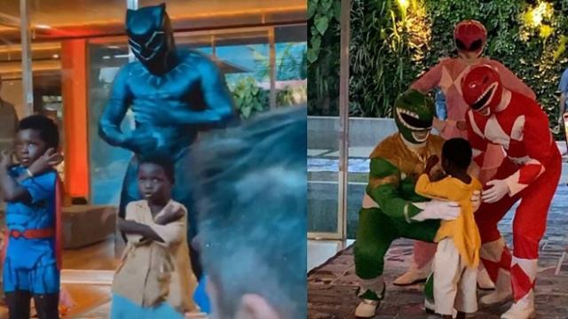Filho de Giovanna Ewbank e Bruno Gagliasso ganhou uma festa com tema de super-heróis